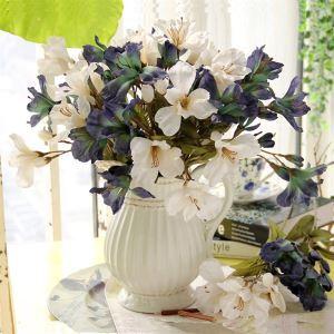 造花 百合 花瓶付き