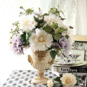 造花 紫色&白色 花瓶付き