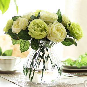 造花 ローズ 花瓶付き