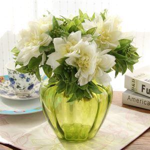造花 トケイソウ 花瓶付き