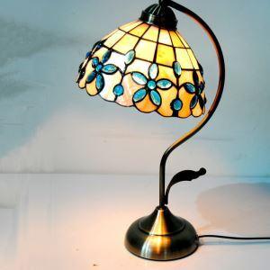 テーブルランプ ティファニーライト ステンドグラスランプ 卓上照明 ライラック 1灯 D20cm TL-8-001