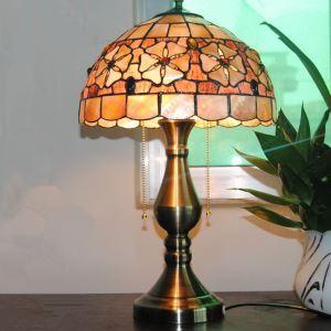テーブルランプ ティファニーライト ステンドグラスランプ 卓上照明 サザンカ 2灯 D30cm TL-12-002
