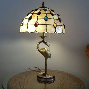 テーブルランプ ティファニーライト ステンドグラスランプ 卓上照明 2灯 D30cm TL-12-008