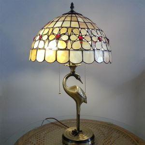 テーブルランプ ティファニーライト ステンドグラスランプ 卓上照明 2灯 D30cm TL-12-015