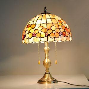 テーブルランプ ティファニーライト ステンドグラスランプ 卓上照明 2灯 D30cm TL-12-011
