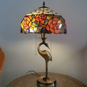 テーブルランプ ティファニーライト ステンドグラスランプ 卓上照明 2灯 D30cm TL-12-012