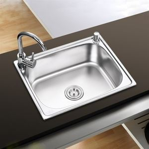 キッチンシンク(蛇口なし) 台所の流し台 #304ステンレス製流し台 S4939 19in