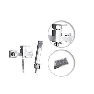 シャワー水栓 バス蛇口 ハンドシャワー 混合水栓 水栓金具 風呂用 クロム