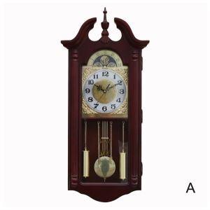 旧式の壁掛け時計 振り子時計 報時