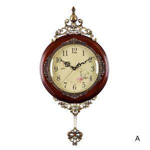 壁掛け時計 振り子時計 静音時計 アンティーク調