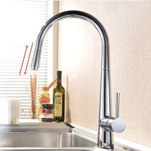 キッチン蛇口 台所蛇口 引出し式水栓 冷熱混合水栓 クロム