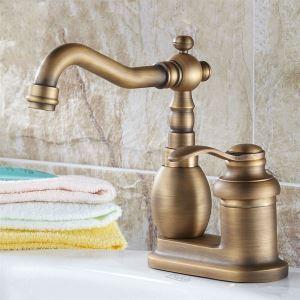 キッチン蛇口 台所蛇口 冷熱混合栓 水道蛇口 水栓金具 ブロンズ色