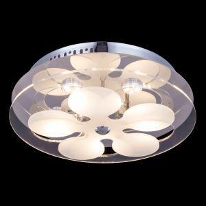 LEDシーリングライト 天井照明 天井照明 ガラス 円形 おしゃれ 6灯 LED対応