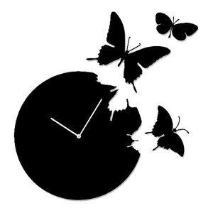 幻想的な壁掛け時計 静音時計 蝶型 Diamantini