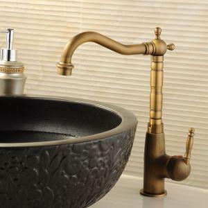 バス水栓 洗面蛇口 混合水栓 水道蛇口 真鍮製 ブロンズ色