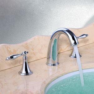 バス水栓 洗面蛇口 冷熱混合栓 立水栓 水道蛇口 2ハンドル クロム  THZ650