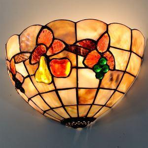 ティファニーライト 壁掛け照明 ステンドグラスランプ 玄関照明 ブラケット ブドウ柄