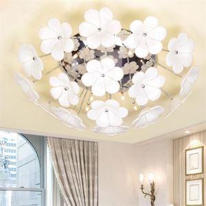 LEDシーリングライト リビング照明 照明器具 クリスタル付 花型 9灯 LED対応