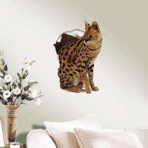 3Dウォールステッカー 転写式ステッカー 立体DIY PVCシール シート 猫柄 WS02089