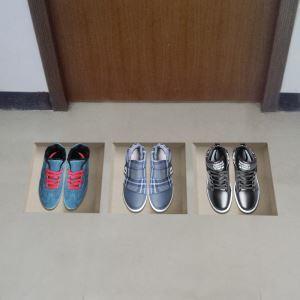 3Dウォールステッカー 転写式ステッカー 立体DIY PVCシール シート 靴柄 WS02162