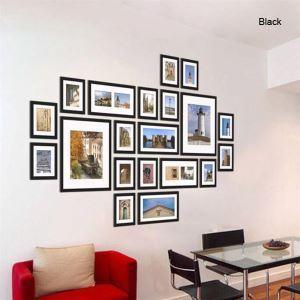 壁掛けフォトフレーム 写真用額縁 フォトデコレーション FZ-2020 3色 20個セット 複数枚
