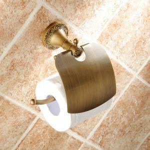 トイレットペーパーホルダー バスアクセサリー ブロンズ色 真鍮製 アンティーク