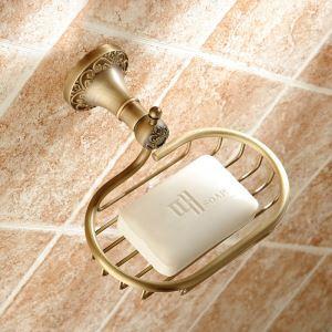 浴室ソープディッシュホルダー 石鹸ホルダー バスアクセサリー ブロンズ色 真鍮製 アンティーク