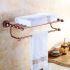 浴室タオルバー タオル掛け タオル収納 壁掛けハンガー バスアクセサリー ローズゴールド LWA031