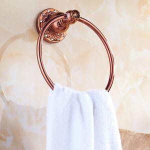 浴室タオルリング タオル掛け タオル収納 壁掛けハンガー バスアクセサリー ローズゴールド LWA035