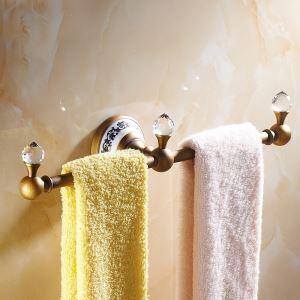 浴室タオルバー タオル掛け タオル収納 ハンガー バス用品 真鍮製 アンティーク調 ブロンズ