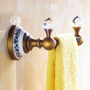 浴室タオルラック タオル掛け タオル収納 壁掛けハンガー バスアクセサリー アンティーク調 ブラス色 LWA062