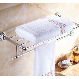 浴室タオルラック タオル掛け タオル収納 壁掛けハンガー バス用品 クロム バスアクセサリー 現代的 LWA095