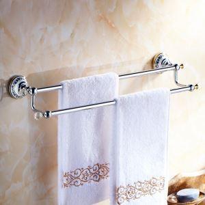 浴室タオルバー タオル掛け タオル収納 壁掛けハンガー バス用品 金色&クロム バスアクセサリー 現代的 LWA102