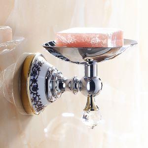 浴室ソープディッシュホルダー バスアクセサリー 金色&クロム 真鍮製 現代的