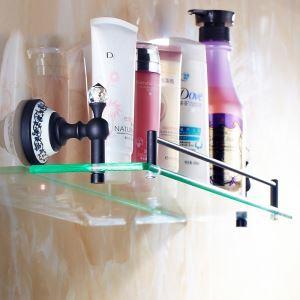 化粧棚 シェルフ ガラス棚 浴室棚 バスアクセサリー ORB 真鍮製&ガラス