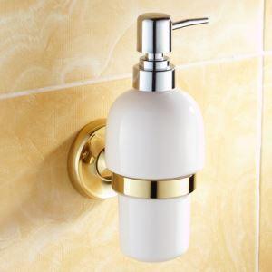浴室ソープディスペンサーホルダー バスアクセサリー 金色 真鍮製 Ti-PVD