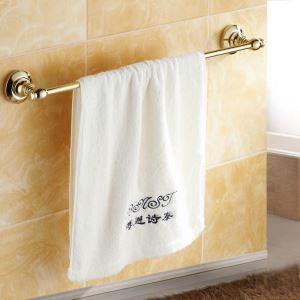 浴室タオルバー タオル掛け タオル収納 壁掛けハンガー バスアクセサリー Ti-PVD 金色 LWA155