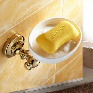 浴室ソープディッシュホルダー バスアクセサリー 金色 真鍮製 Ti-PVD