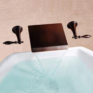 壁付水栓 洗面蛇口 バス水栓 水道蛇口 2ハンドル混合栓 ORB