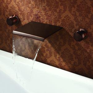 壁付蛇口 バス水栓 洗面蛇口 浴槽水栓 冷熱混合栓 水道蛇口 2ハンドル ORB