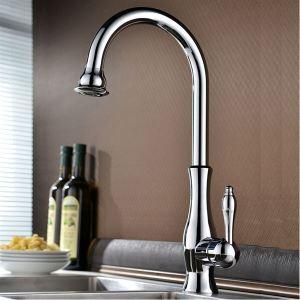 キッチン蛇口 台所水栓 シンク水栓 冷熱混合水栓 四つ工芸