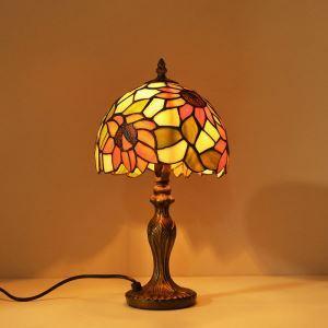 テーブルランプ ティファニーライト ステンドグラス 卓上照明 ひまわり柄 1灯 D20/30cm TD08031