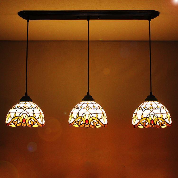 ティファニーライト ペンダントライト ステンドグラス照明器具 天井照明 3灯 1028 St08001b