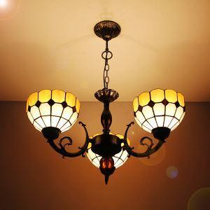 シャンデリア ステンドグラスランプ ティファニーライト リビング照明 照明器具 天井照明 3灯