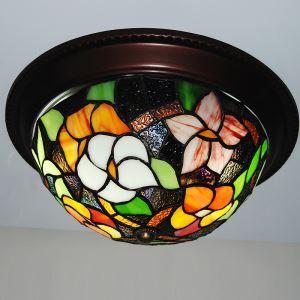 ステンドグラス シーリングライト ティファニーライト 天井照明 花柄 2灯