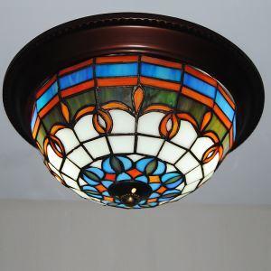 ステンドグラス シーリングライト ティファニーライト 照明器具 2灯
