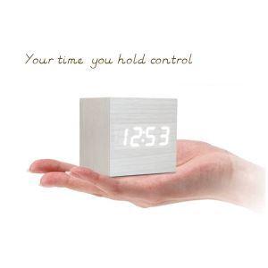 置き時計 デジタル時計 静音時計 目覚まし時計 LED灯