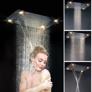 高級LEDヘッドシャワー 埋込形シャワー水栓 レインシャワーヘッド 真鍮製