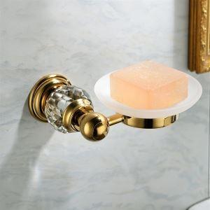 浴室ソープディッシュホルダー 真鍮&スリカップ 金色 Ti-PVD