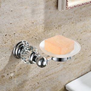 浴室ソープディッシュホルダー 真鍮&クリスタル クロム